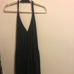 Bebe Black halter top dress